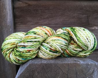 Spring Sproing! A Chunky weight Hand painted yarn, One of a kind Dot Dye