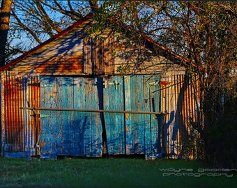 Texas Old Barn Re purposed, Landscape Photography, Home Decor, Wall Art, Texas Gift, Country