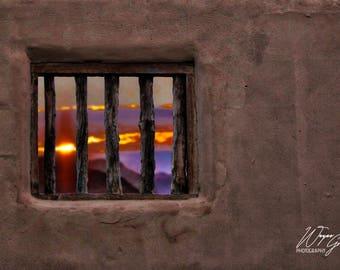 Terlingua Adobe Sunrise Texas Home Decor,  Landscape Photography, Wall Art, Interior Design