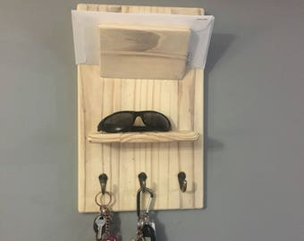 Wall Hanging Mail and Key holder