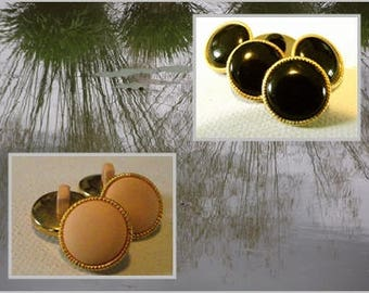 """5 buttons 14 mm gold and black or coral tail 0.55 """"1.4 cm button sewing notions"""