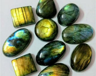 10 Pcs Lot Mix Shape Multy Fire Labradorite Cabochon/wholesal/Labradorite /Wire Wrapp grmstone/ Designer Jewelry /Labradorite Jewelry/ Gemst