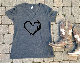 Hunting shirt, fishing shirt, antler shirt, Southern roots shirt, Southern t-shirt, Southern shirt, hunting shirt for her