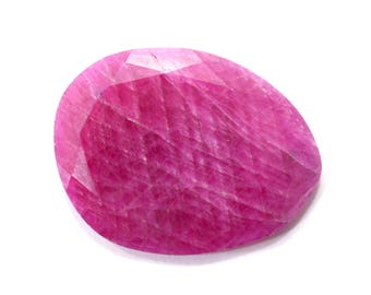 Sapphire Natural Pink Sapphire Faceted Rose Cut Polki 15.55 cts. 19x24 mm Loose Gemstone For Designer Jewelry 4153