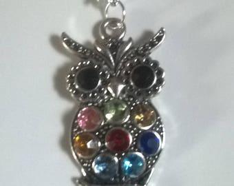 Silver necklace / OWL pendant