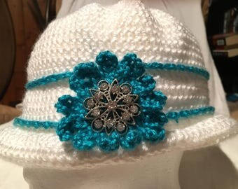 Crochet Cloche Hat, Cap