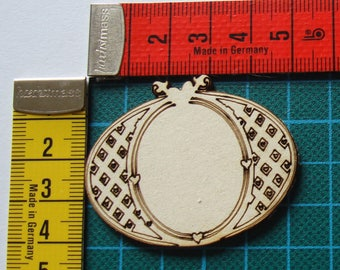 oval frame 1612 embellishment wooden creations