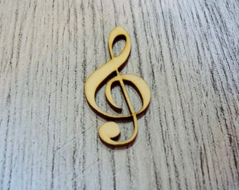 Treble clef 1312 embellishment wooden creations