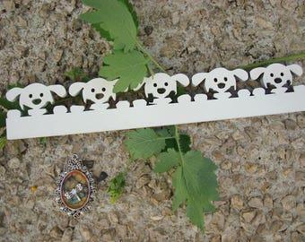 Dog border 2025 wood 6 mm wooden Littles embellishment