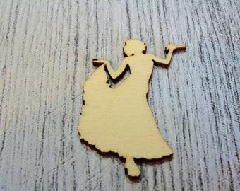 Dancer 1254 embellishment wooden creations