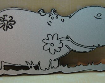 a hippo 151 perspex for scrapbook pages