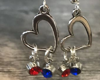 CHD heart earrings