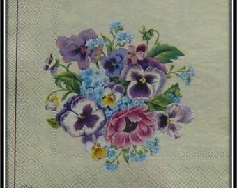 paper flower bouquet towel