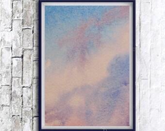 Abstract Wall Art, Printable Abstract, Printable Wall Art, Digital Print, Modern Wall Art, watercolor painting, Abstract watercolor