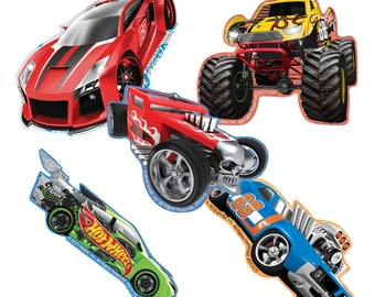 "20 Hot Wheels Cars Shaped Stickers, 2"" by 2.25"" Each"