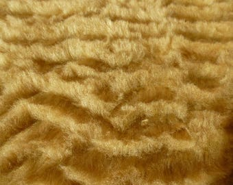 beige fur acrylic coupon for smaller creations sewing and scrapbooking 32 cm x 28 cm