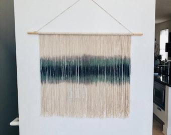 Dip Dyed Fiber Art Wall Hanging