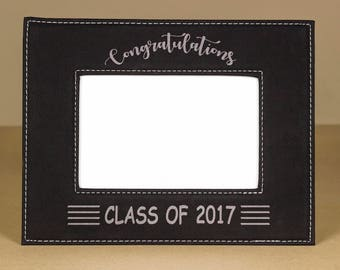 Custom Leather Picture Frame, Engraved Photo Frame, Leather Photo Frame, Garduation Photo Frame, Graduation Gift, Christmas Gift