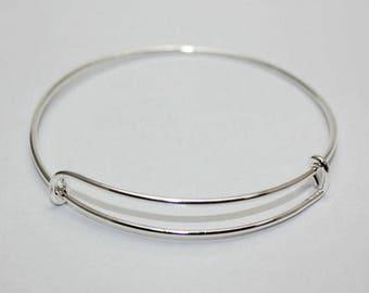 Unisex adjustable bracelet in silver
