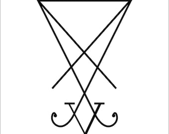 Sigil of Lucifer Vinyl Auto Decal Window Sticker 4""