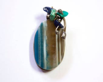 BEAUTIFUL AGATE PENDANT gemstone charm focal point in low price