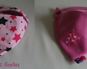 """Bandana fleece baby girl """"pink star"""""""