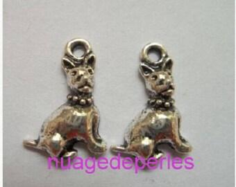 3 pendants silver Tibetan Mastiff dog