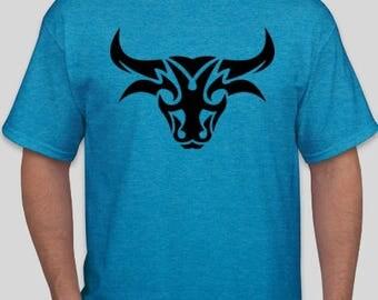 Tribal Bull Tattoo Men's and Women's  T-Shirt