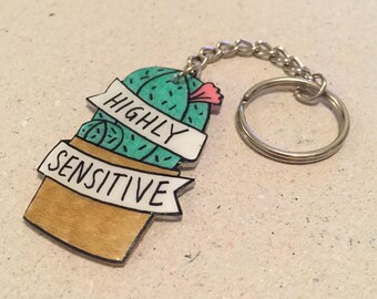 Highly Sensitive Cactus Keychain