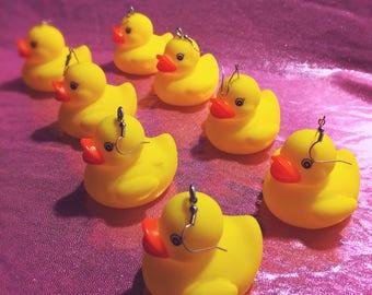 Crystal Queer Rubber Duck Earrings