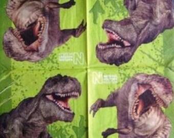 TOWEL in beautiful paper dinosaurs #E071