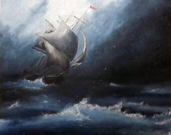 The Storm - Original Oil Painting by Marat Melnyk