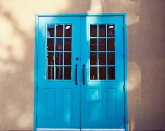Adobe Door in Albuquerque. New Mexico. USA