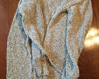 Cotton Yarn Knit Pullover