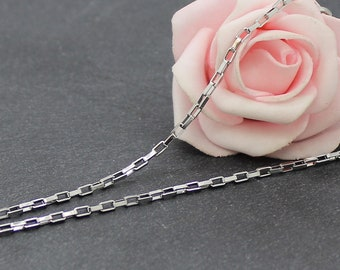 Necklace stainless steel 51.5 cm link 3 x 1.5 mm