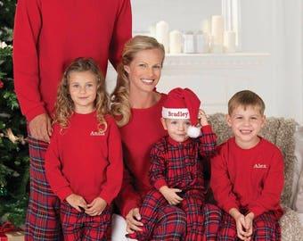 Plaid Flannel Matching Family Pyjamas, pajamas