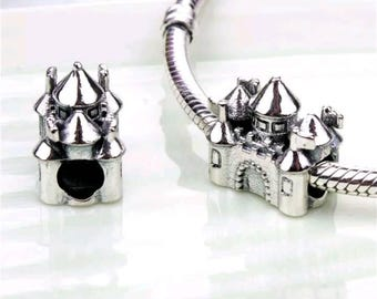 Pandora charms disney Palace castle sterling silver jewellery mickey minnie mouse pandora necklace jewellery craft making bracelet