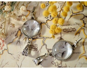 Earrings Bohemian pattern dandelion seeds