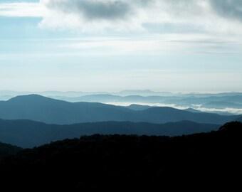 Instant Download, Blue Ridge Mountains, North Carolina Photography