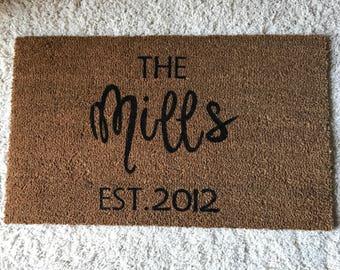 Last Name Custom Doormat