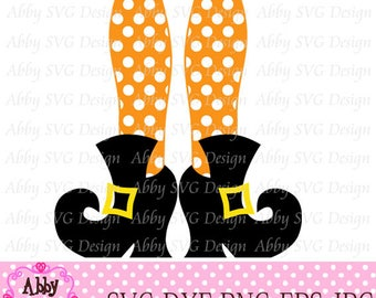 Halloween Witch Feet/Boots Cut File eps,png,dxf and svg file for the Cutting Machines