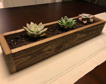 Henry Reclaimed Wood Succulent Planter Box- indoor planter