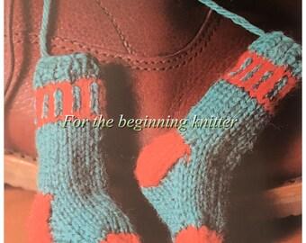 PDF Knit Wee Socks (Shoelace Tassels)