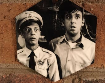 The Andy Griffith Show Barney Fife & Gomer Pyle Christmas Ornament