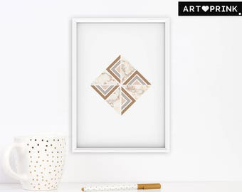 Geometric Printable Wall Art, Marble Wall Decor, Nordic Wall Art, Modern Minimalism Art Print, Contemporary Art, Printable Digital Download