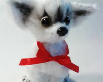 Chihuahua,knitted dog, knitted toys, knitted animals, dog toys, crochet toys, knitted soft toys, toy puppy dog, knitted toy dog, handmade