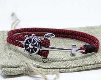 Paracord 550 Nautical (Diamond Red) Bracelet – CBYS