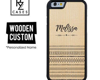Wooden Phone Case, Custom Phone Case, Wooden Personalized Case, Ethnic Phone Case, iPhone 7, iphone 6, Personalized Gift for Her, iPhone 6s