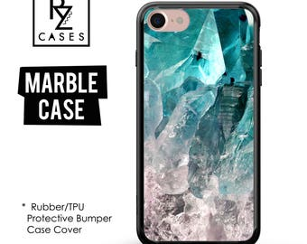 Amethyst Crystal Phone Case, Turquoise Crystal, iphone 7, Gemstone, Marble Case, iPhone 6s, iPhone, iPhone 5, Rubber, Bumper Case