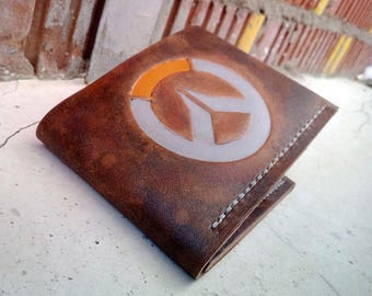 Overwatch Light Leather Handmade Wallet